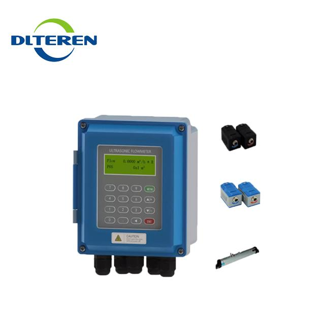 DTI-200F5 IP68 waterproof Clamp on High temperature liquid TUF-2000B water flowmeter flow meters ultrasonic